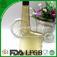 PVC resistente a produtos químicos quadrado vazio plástico motor óleo garrafa 400ml para óleo combustível
