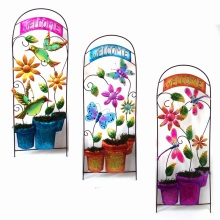 """Spring Decoration Metal Garden Fence Craft with """"Welcome"""""""