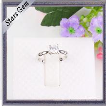 Venda inteira de diamantes sintéticos moda Shinny jóias de prata
