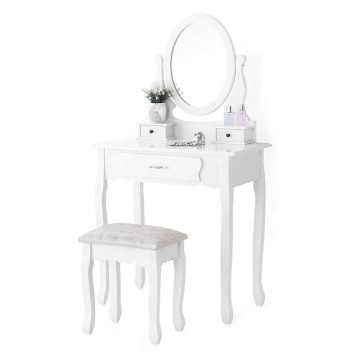 Portable 3 Drawers Vanity Set makeup table with mirror