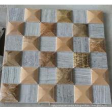 3D Wall Mosaic Marble Mosaic (HSM224)