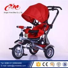 Alibaba Baby Dreirad Kinder Fahrrad in Yiwu / 4 in 1 Kleinkind Dreirad zum Verkauf / drei Rad Fahrrad für Kinder