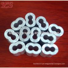 Luvas de hourglass de alumínio oval plana