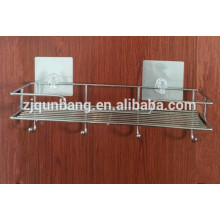 Edelstahl-Multifunktions-Badezimmer-Regal mit Saugnapf
