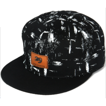 Metallmarke Leder Applique Druck Hip Hop Cap