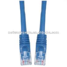 CAT5E utp rj45 cabo de cabo de remendo 8p8c com conector dual rj45
