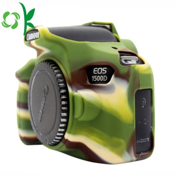 Högkvalitets Camouflage Green Silicone Soft Camera Case