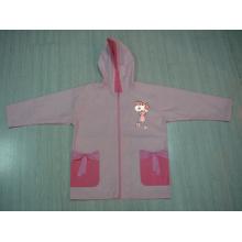 Yj-1142 Veste de pluie en hiver rose pour filles enfant avec capuche