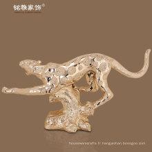 Figurine d'intérieur décorative résine leopoard Figurine animale de haute qualité