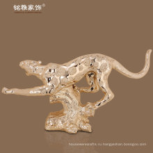 крытый декоративные смолы leopoard рисунок высокого качества фигурка животного
