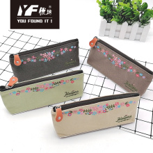 Embroidery Flower Style Cute Pencil Case