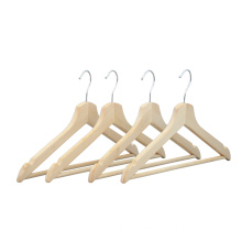 Factory Direct Hot sale cheap wood clothes top hanger for supermarket
