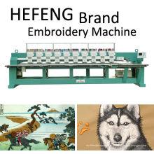 12 Kopf Hochgeschwindigkeits-computerisierte flache Stickmaschine