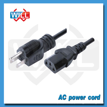Aprobación PSE 12 / 15A 125V Japón cable de alimentación de CA para portátil