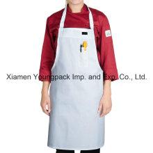 Blanco 100% algodón orgánico cocina de lona cocina delantal para las mujeres