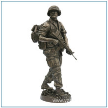 Outdoor Decoration Life Size Bronze Warrior Statue