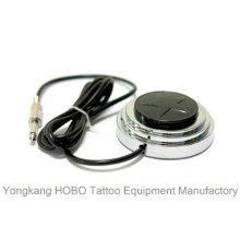 Aço inoxidável tatuagem máquina Tatuagem fonte de alimentação pedal com cabo clip