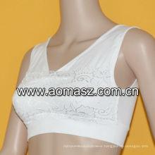 Nylon fashion sexy mature lace bra