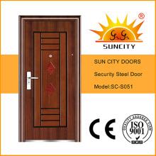 Вход низкие цены стальные двери, железные двери картинки для дома (СК-S051)