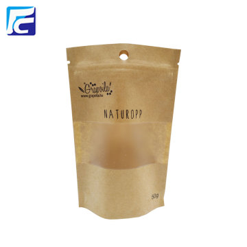 2017 Brown Kraft Riutilizzabile Snack Bag