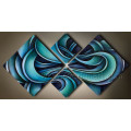 Modern Handmade Abstract Painting on Canvas for Home Decoration (XD4-052)