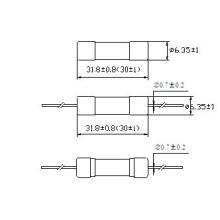 Hbc Tube Sicherung Fast-Acting Axial Blei 6,3 X 30 mm