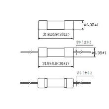 Hbc Tubo Fusible Cilindro Axial de Actuación Rápida 6.3 X 30 mm