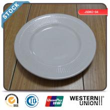 Weiße Steingut Platte / Stock Plate / Günstige Steingut Platte
