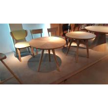 Mesa de restaurante de madera maciza de alta gama y silla para restaurante