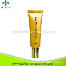 High Quality Eye Cream Tube With Gold Shiny Cap Plastic Cosmetic Tube