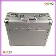Boîtes de documents en aluminium de serrure de combinaison de poignée d'ABS d'argent (SATC005)