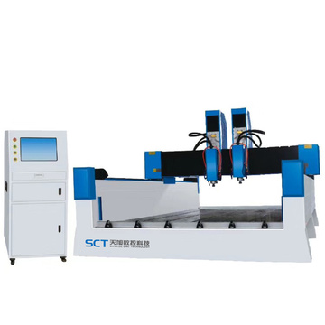 Double Heads Relief Ukiran Stone CNC Router