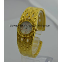 Quality Females Gold Watches Bracelet Watch Quartz Brass