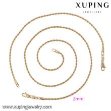 63875 Xuping style simple bijoux de mode ensembles plaqués or sans pierre