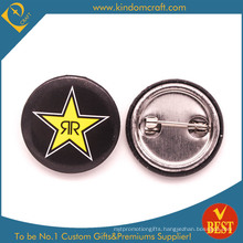 Custom Metal Tin Button Badge with Star Logo for Gift