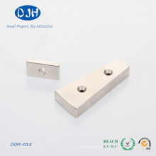 Wholesale Moto Sintered Rare Earth Magnets with Two Holes