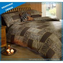 Tierdrucke Patchwork Design Polyester Bettbezug Bettwäsche