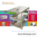 Three Layer Stainless Steel Trolley