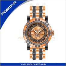 Relógio de quartzo de discagem redondo relógio de fábrica preço de OEM e ODM