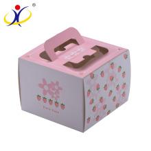 Forme personnalisée! Emballage personnalisé de boîte à gâteau de carton avec la fenêtre et la poignée