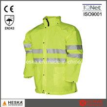 Oi segurança Vis impermeável segurança jaqueta chuva vestir roupas
