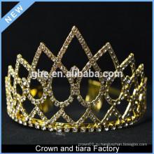 Дешевые золотые короли и королева короны для продажи