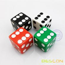High Quality Six-Sided Opaque Straight Casino Plastic Dice 16MM