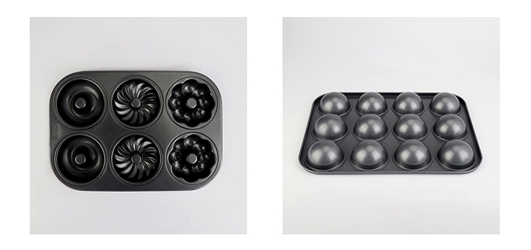 carbon steel doughnut & muffin pan001