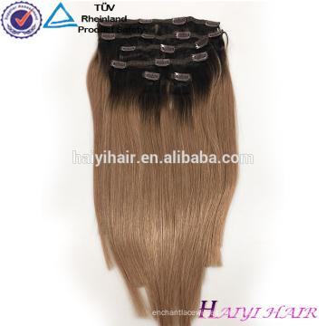 Venta al por mayor de Alibaba Remy Virgen del pelo Remy extensión del pelo Clip en Dark Blonde