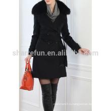 Роскошный классический стиль женская кашемировые пальто