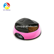 PF-08 4 Refeição alimentador automático de pet LCD automática tigela de cachorro com relógio alam