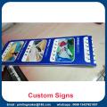 Letreros de placas rígidas de PVC con impresión personalizada
