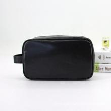 2021 New Design PVC Coated Waterproof Cosmetic Bag Black Brush Makeup Pouch Bag Cosmetic