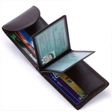 Trend Läder Card Wallet Case Mynt Purse Holder